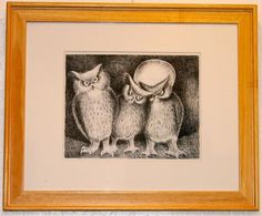 December 2015 & January 2016 Illustration Artist W.R. Cole Three Wise Owls