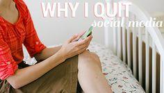 Why I Quit Social Media // Boyer Family Singers Blog