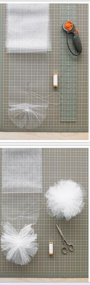 Ideas flowers diy tulle pom poms for 2019 Diy Flowers, Fabric Flowers, Paper Flowers, Tule Flowers, Paper Poms, Tissue Paper, Sewing Crafts, Sewing Projects, Diy Projects