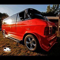 Custom 70's Dodge street Van
