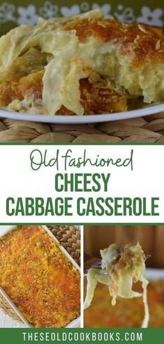 Potatoe Casserole Recipes, Cabbage Casserole, Vegetable Casserole, Side Recipes, Veggie Recipes, Cooking Recipes, Dinner Recipes, Healthy Recipes, Cooked Cabbage