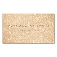 Gold Glitter Sparkle Bokeh Business Card. This great business card design is available for customization. All text style, colors, sizes can be modified to fit your needs. Just click the image to learn more!