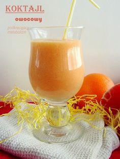 Koktajl podkręcający metabolizm Smoothie Drinks, Smoothie Diet, Smoothies, Cocktail Drinks, Cocktails, Healthy Drinks, Healthy Recipes, Nutribullet, Lemonade