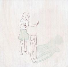 girl and her bike- Lisa Golightly