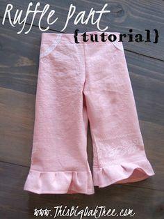 Really cute pants for little girl.