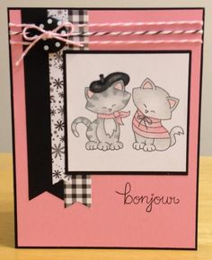 French Kitties by jenn47 - Cards and Paper Crafts at Splitcoaststampers  - Newton Dreams of Paris stamp set by Newton's Nook Designs