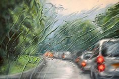 Amazing rain painting by Francis McCrory Rain Painting, Oil Painting On Canvas, Canvas Art, Sick Drawings, Pencil Drawings, Rain Art, Art For Art Sake, Abstract Landscape, Art Pictures
