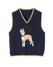Sweater Vest with a dog on it! i think this is what i should wear in the show!