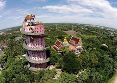 Wat Samphran is rarely mentioned in guide books and remains unmarked on maps. It's not a big tourist attraction but many travellers who visited the temple spoke about its tranquil and spiritual atmosphere. Who designed it or when it was built is a mystery.--