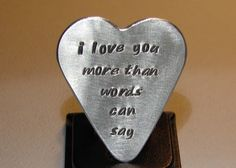 Guitar pick and love