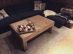 Hyggelig å få bilder av kunder! Bordet Kvitfjell med oppbevaringshylle på plass på hytta👌🏼Bordet har målene: 120x80x50 cm. Pris: 7900,- inkl moms.  Uten hylle under kr 6900,- For bestilling, se bio.  Leveres i valgfritt mål. Hygge, Instagram Posts, Table, Furniture, Home Decor, Decoration Home, Room Decor, Tables, Home Furnishings