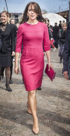 Stunner: Princess Mary was wonderfully windswept while attending the opening of a research...