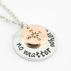 """No Matter Where ""  Best Friends & or Long distance relationship Necklace"