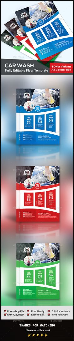 Automotive Car Sale Rental Flyer Ad v2 Ads, Cars and Printing - car wash flyer template