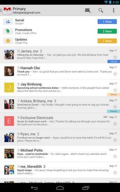 Actualización de Gmail para Android, ahora permite guardar adjuntos en Drive