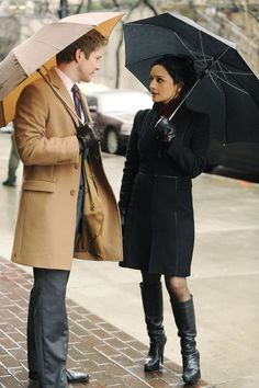 """Matt Czuchry and Archie Panjabi in """"The Good Wife"""""""