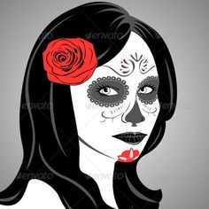 Sugar Skull Lady  #GraphicRiver         Vector of Sugar Skull Lady with face paint for Day of the Dead (Dia de los Muertos). Package contains: EPS (10 version), JPG (5000×5000 pixels, RGB).     Created: 19September13 GraphicsFilesIncluded: VectorEPS Layered: No MinimumAdobeCSVersion: CS Tags: Sugarskull #calavera #carnival #celebration #culture #dayofthedead #death #face #female #flower #girl #gothic #halloween #holiday #horror #lady #mexican #paint #religion #rose #skull #sugar #tattoo…
