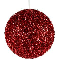 cut foil glitter ball christmas ornament color red material styrofoam priced individually choose