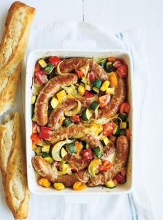 Ricardo& recipe : Sausage and Ratatouille Casserole Cabbage Recipes, Pork Recipes, Gourmet Recipes, Healthy Recipes, Yummy Recipes, Ratatouille Recipe With Meat, Easy Stuffed Cabbage, Confort Food, Ricardo Recipe