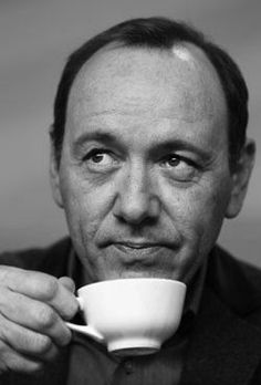 Kavin Spacey enjoying his cup of coffee!