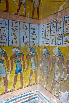 Tomb of Ramses IV, Valley of the Kings Archaeological site, near Luxor, Egypt.
