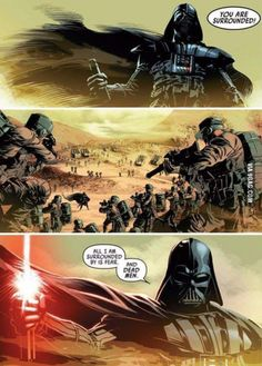 If only they made a Star Wars movie this epic.>>> Anikan/ Vader when he was just joined the dark side Star Wars Meme, Star Wars Comics, Star Wars Art, Star Trek, Rage Comics, Mike Deodato, Anakin Vader, Darth Vader Comic, Darth Vader Artwork