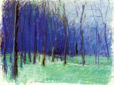 Wolf Kahn b. 1927 Up the Hill and into the Woods