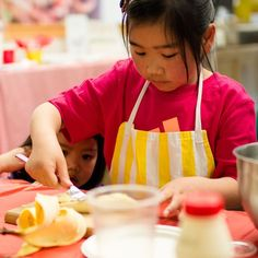 This beautiful little girl was at my cooking class and her sister came to see what was happening too - I love this photo of her peering through her big sister's arm. Cooking Classes For Kids, Cooking With Kids, Beautiful Little Girls, Catering, Sisters, Breakfast, Recipes, Arm, Food