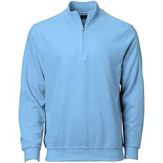 Greg Norman mens Contemporary 14 Zip Pullover Starboard Heather XXLarge >>> Want additional info? Click on the image.