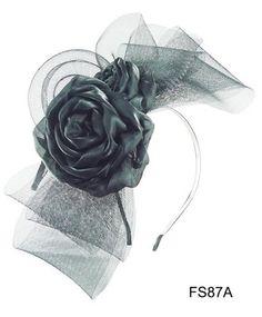 So Beautiful Big Veil Flower Fascinator Headband 2 Colors Available