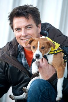 John Barrowman worked at an animal rescue shelter. Jenny thought it was John that needed rescuing.