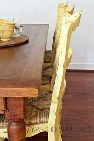 Savvy Southern Style: They're Back Yellow Table, Yellow Chairs, French Country Dining Table, Savvy Southern Style, Furniture Projects, French Vintage, Pottery Barn, Farmhouse Decor, Home And Garden