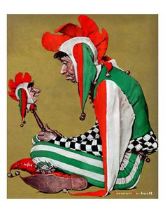 """""""Jester"""", February 11,1939  Norman Rockwell - My favorite by him. :)"""