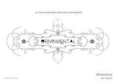 Brownstone ornamental font by veer.com