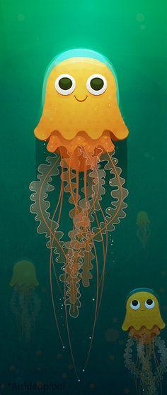 Jellfish by *aisidedpipol, via Flickr