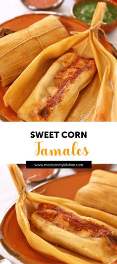 Chanchamitos is the common name for Sweet Corn Tamales stuffed with pork in Chipotle sauce. The process to make them is similar to making the famous Uchepos from the State of Michoacán but without the filling. Sweet Tamales, Corn Tamales, Mexican Tamales, Raw Food Recipes, Mexican Food Recipes, Cooking Recipes, Mexican Desserts, Cooking Tips, Freezer Recipes
