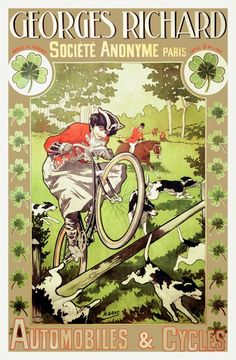 Terrierman's Daily Dose: Vintage Bicycle Ads with Dogs