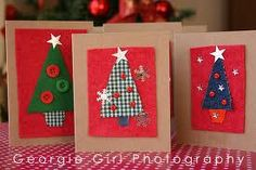 handmade christmas cards kids - Google Search