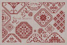 Sarah Storrs - A Quaker Sampler - Cross Stitch Embroidery Pattern - Instant Download PDF Booklet