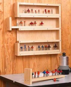 Easy-Access Router-Bit Storage Woodworking Plan, DIY and Crafts, divers terrific suggestions for classy Best Wood Plans Diy Projects programs Woodworking Shows, Woodworking Logo, Easy Woodworking Projects, Popular Woodworking, Woodworking Furniture, Fine Woodworking, Wood Projects, Woodworking Classes, Woodworking Workbench