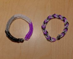 Asexual Pride Flag Loom Bracelet from AeronMadeThis on Etsy