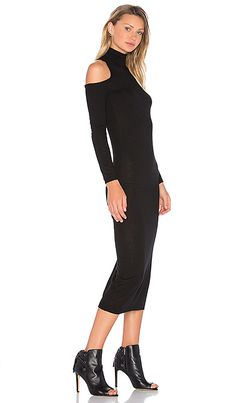 58b2c698abc Shop for Deby Debo Lindsay Sweater Midi Dress in Black at REVOLVE. Free 2-  · Cold Shoulder Dress