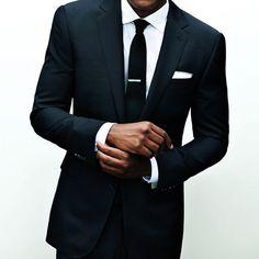 Fancy - Black One Button Slim Fitting Suit