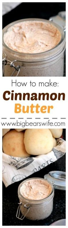 Cinnamon Butter - the recipe quest begins! Flavored Butter, Homemade Butter, Butter Recipe, I Love Food, Good Food, Yummy Food, Mousse, Cinnamon Butter, Cinnamon Spread Recipe