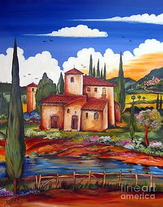 Roberto Gagliardi - Art (Page of Farmhouse Paintings, Framed Prints, Canvas Prints, Gif Pictures, Country Farmhouse Decor, Fused Glass Art, Italian Artist, Vincent Van Gogh, Tuscany