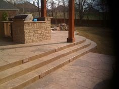 Stamped Concrete, Deck, Outdoor Decor, Home Decor, Homemade Home Decor, Decks, Interior Design, Home Interiors, Decoration Home