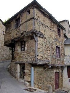 Oldest House in Aveyron, France. Dating from the 13th Century.  flickr by Bobrad