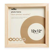 Wilko Decoupage Box Frame Natural Wood 12inx12in