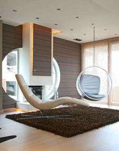 Modern villa, Greece, living room