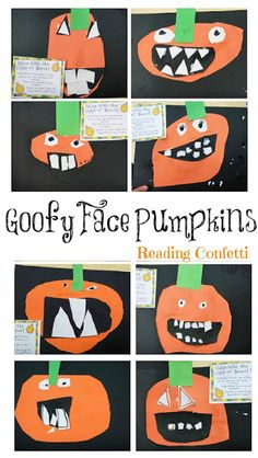 Goofy Pumpkin Faces ~ Reading Confetti